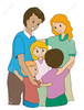 Hugging Family Clipart Image