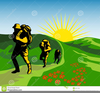 Mountain Hiking Clipart Image