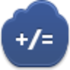 Free Dark Blue Cloud Math Image