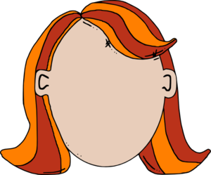 Blank Face Teen Girl Cartoon Clip Art