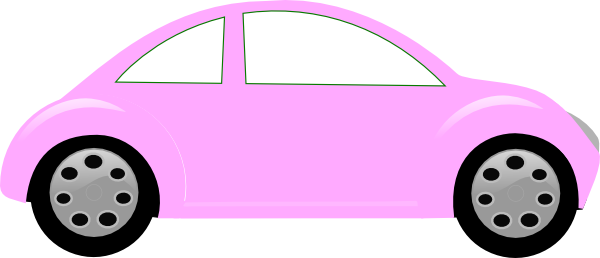 Baby Pink Car Clip Art At Clker Com Vector Clip Art