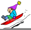 Christmas Sleigh Ride Clipart Image