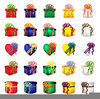 Clipart Of Christmas Gift Boxes Image