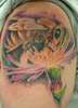 Night Owl Tattoo, Bee ,flower  Image