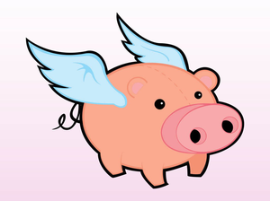 pigs flying clipart free images at clker com vector clip art rh clker com Animated Flying Pig Flying Pig Coloring Pages
