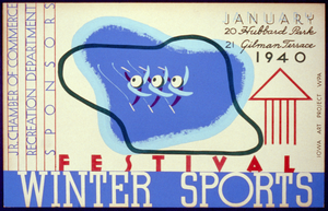 Winter Sports Festival, Jr. Chamber Of Commerce, Recreation Department, Sponsors Image