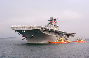 Uss Bonhomme Richard (lhd 6) Returns To Her Homeport Of Naval Station San Diego. Image