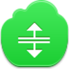 Free Green Cloud Cursor H Split Image