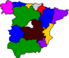 Regions Of Spain Map Clip Art