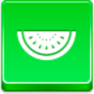 Free Green Button Watermelon Piece Image