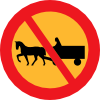 No Horse And Carts Sign Clip Art