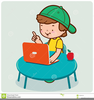 Student Using Computer Clipart Image