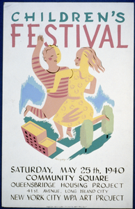 Children S Festival Saturday, May 25th, 1940, Community Square, Queensbridge Housing Project / Herzog. Image