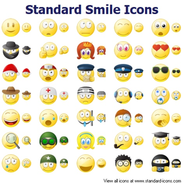 standard smile icons