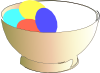 Bowl Of Easter Eggs Clip Art
