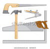 Stock Vector Carpenters Tool Logo Is An Illustration That Can Be Used As A Logo For Carpenter Or Repairman Image