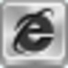Free Silver Button Internet Explorer Image