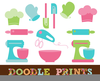Cooking Utensils Clipart Image