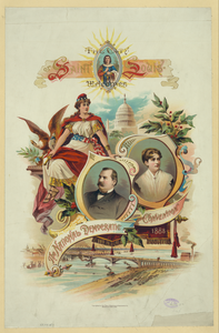 The City Of Saint Louis Welcomes The National Democratic Convention, 1888 Image