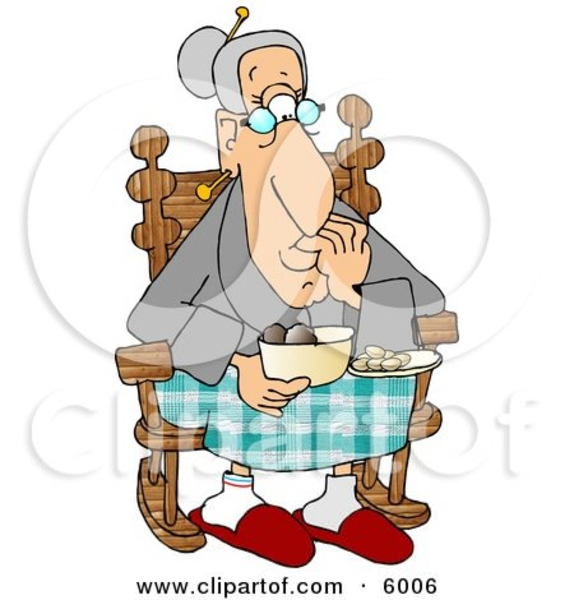 Knitting Granny Clipart : Grandma knitting clipart free images at clker