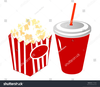 Popcorn And Drink Clipart Image