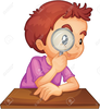 Boy With Magnifying Glass Clipart Image