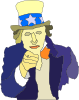 Creepy Uncle Sam Clip Art