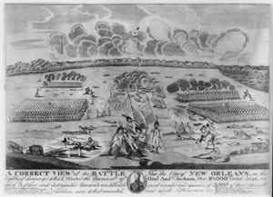A Correct View Of The Battle Near The City Of New Orleans ...  / Francisco Scachi. Image