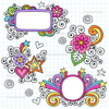 Depositphotos Groovy Picture Frames Psychedelic Doodles Vector Design Image