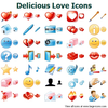 Delicious Love Icons Image