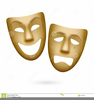 Free Clipart Comedy And Tragedy Masks Image