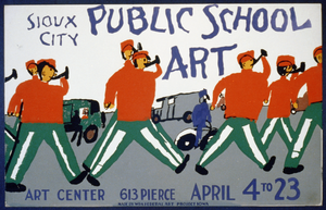 Public School Art, Sioux City Art Center  / Made By Wpa Federal Art Project, Iowa. Image