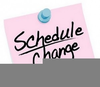 Schedule Change Clipart Image