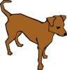 Alert Dog In Color Clip Art