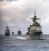 U.s. Navy Ships At Sea Image