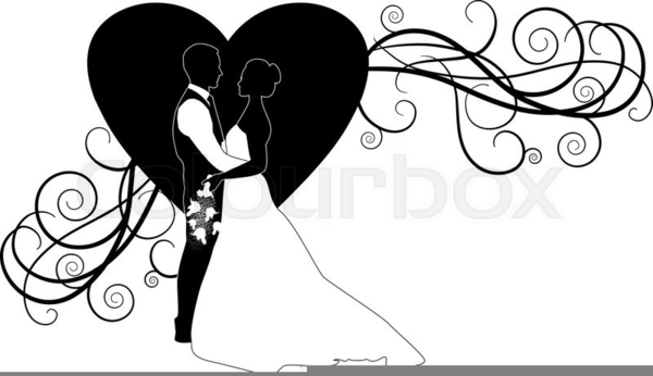 bride groom silhouette wedding clipart free images at