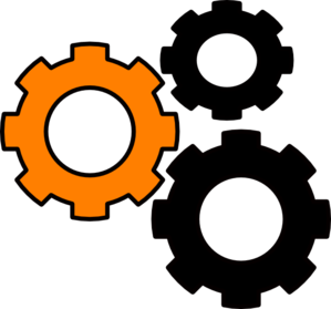 Gears-orange Clip Art