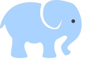 Baby Blue Elephant Clip Art at Clker.com - vector clip art ...