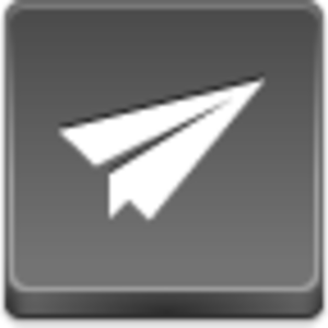 Free Grey Button Icons Paper Airplane Image