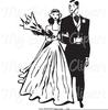 Bride And Groom On Motorcycle Clipart Image