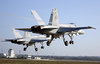 Hornets Make A Dual Runway Take-off While Conducting Multinational Operations In Pula, Croatia, During Multinational Operations In The Region Image