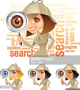 Clipart And Magnifying Glass Detective Image
