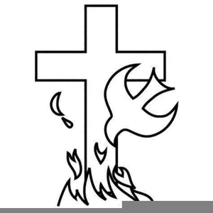 Cross And Flame Clipart