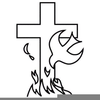 Flame And Cross Clipart Image