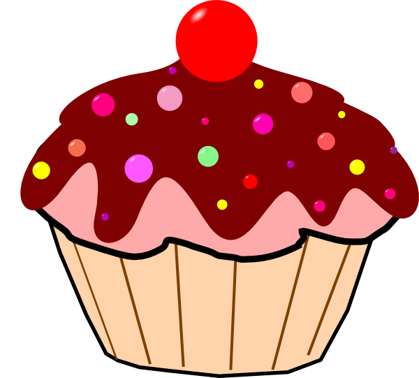 Cupcake Animated Images : Chocolate Cupcake Clip Art at Clker.com - vector clip art ...