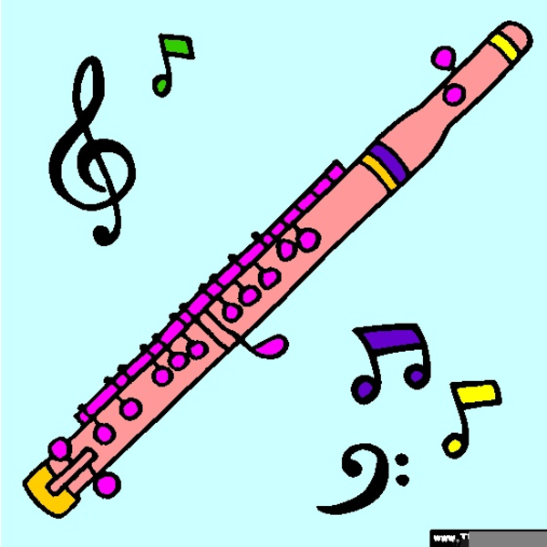 Piccolo Instrument Drawing