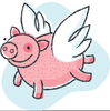 When Pigs Fly Clipart Image