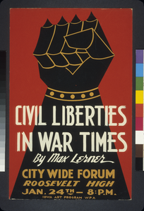 Civil Liberties In War Times By Max Lerner City Wide Forum. Image