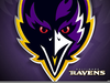 Raven Football Clipart Image