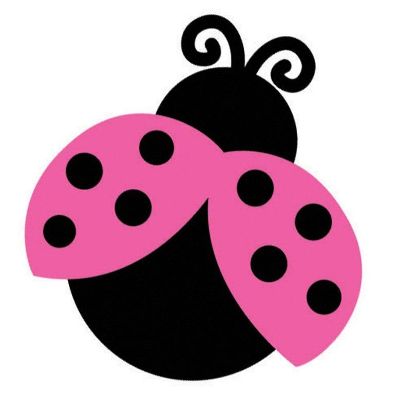 real pink ladybugs free images at clkercom vector